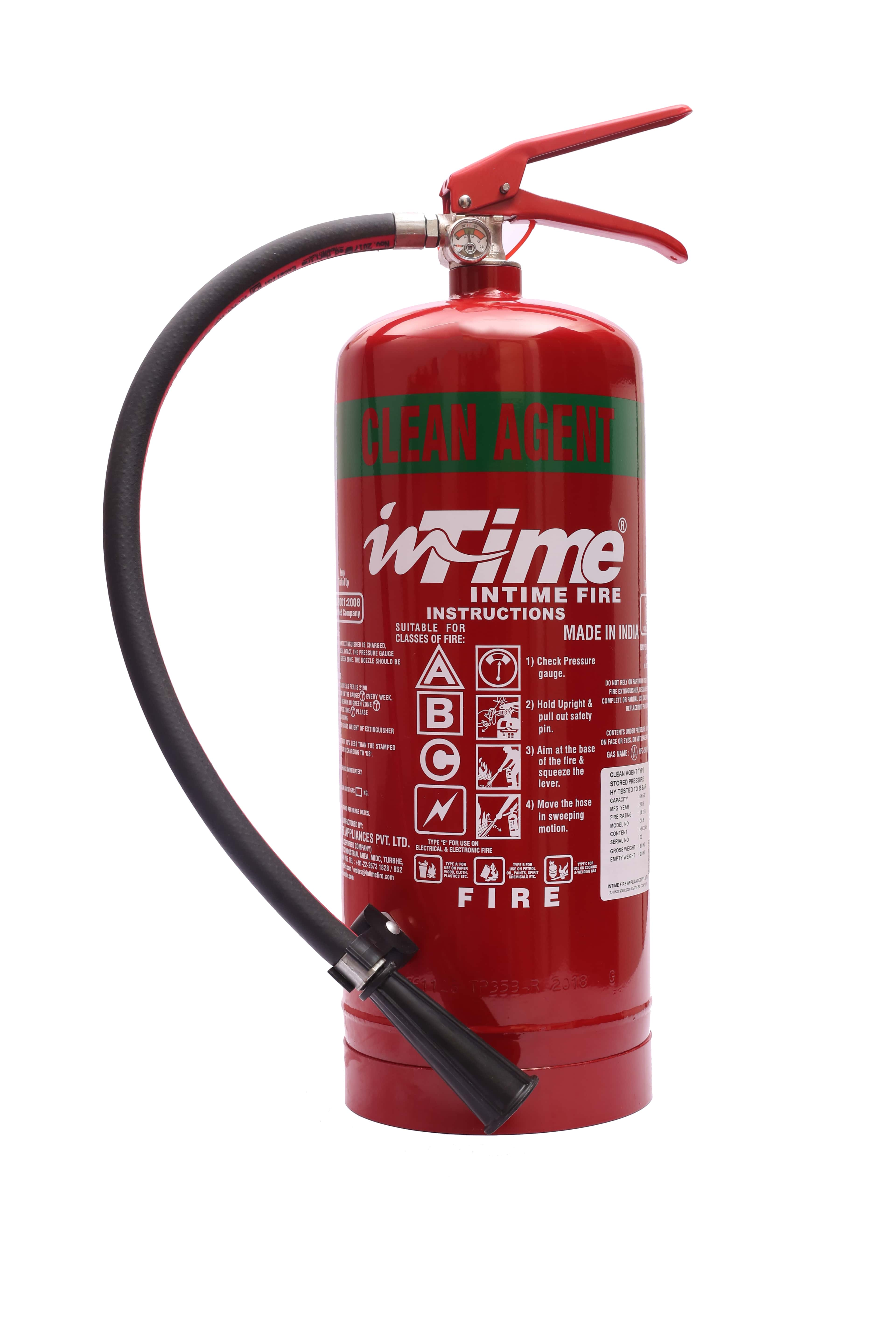 Stored Pressure Clean Agent Type Fire Extinguishers