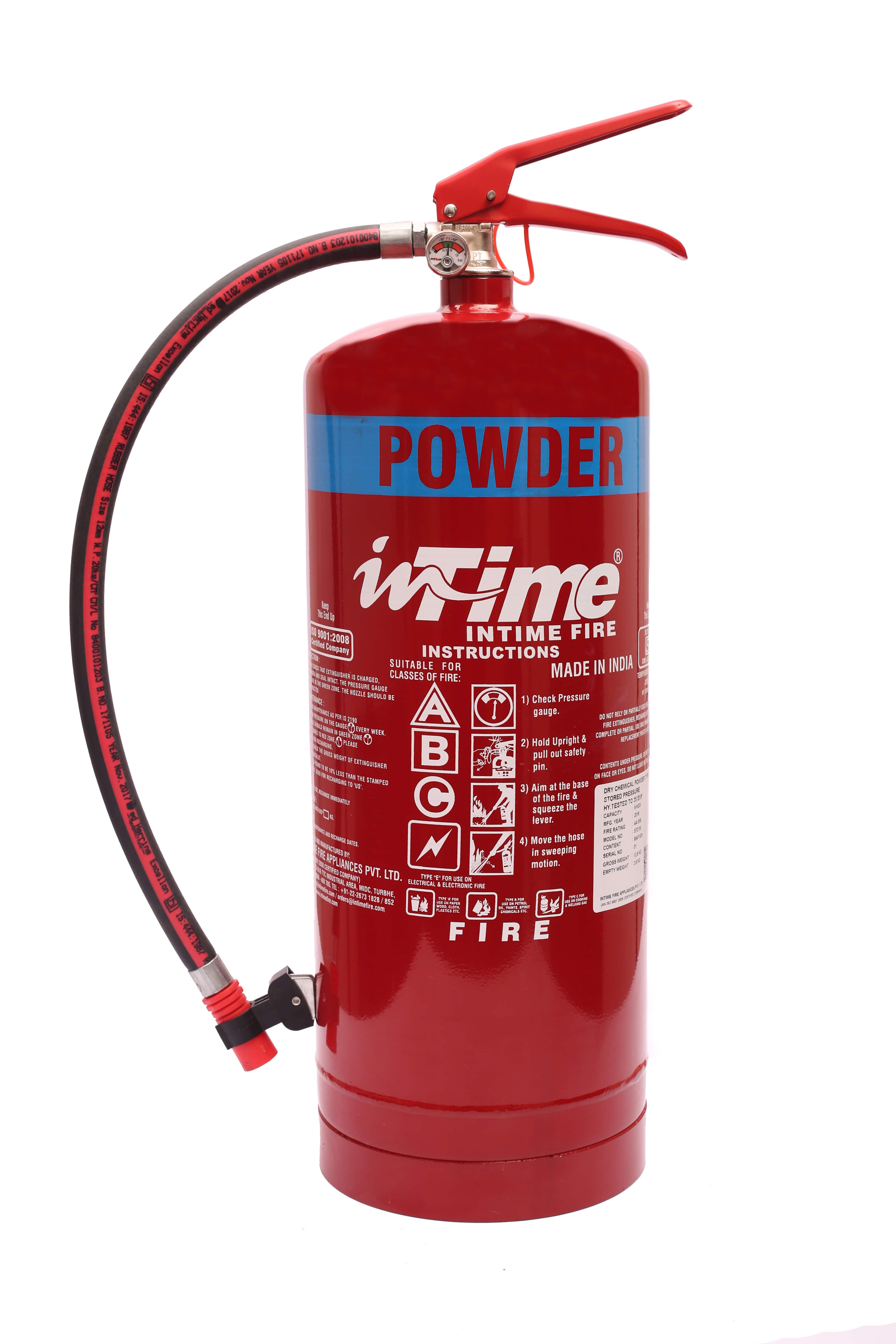 Stored Pressure Powder Type Fire Extinguishers
