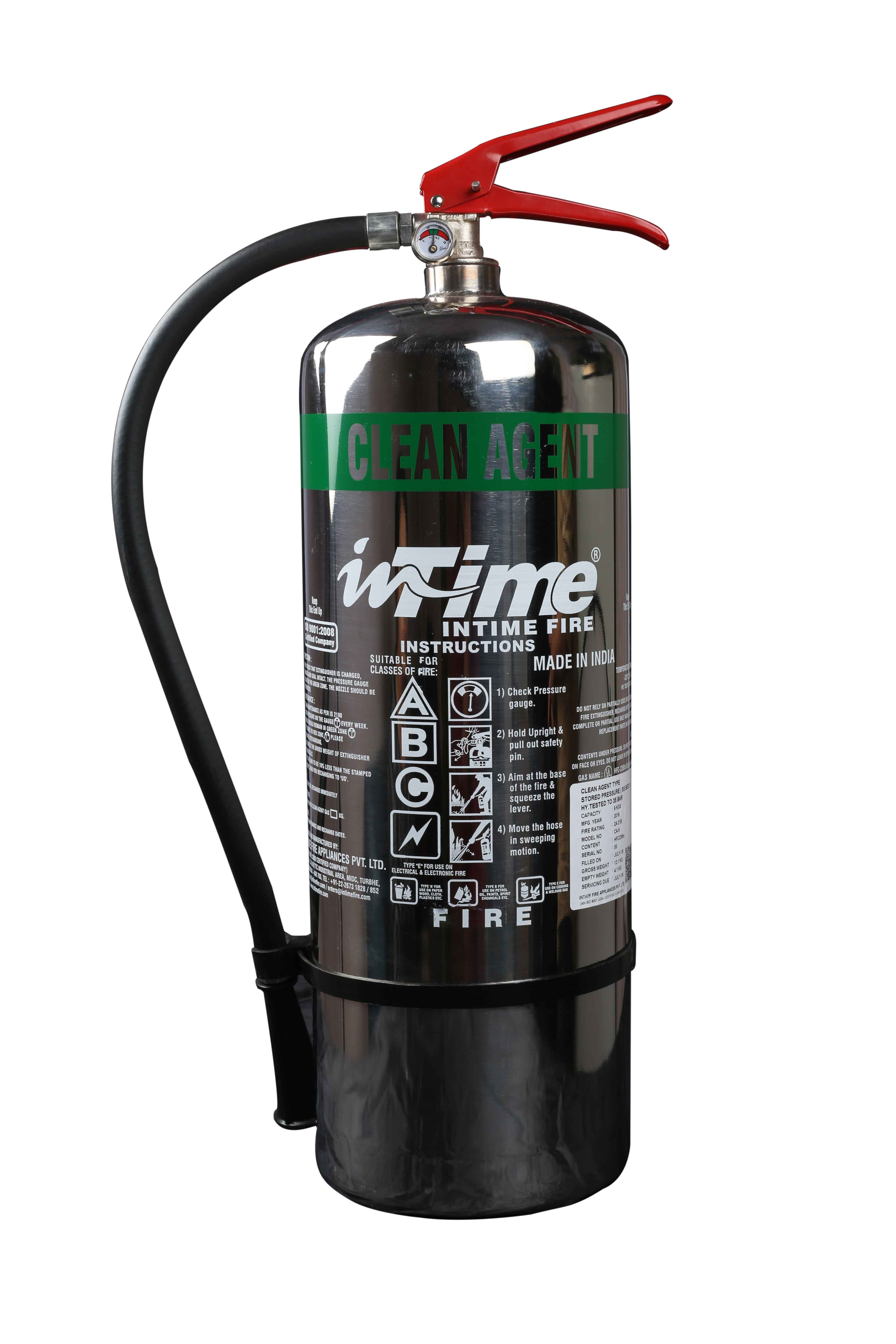 Stainless Steel Stored Pressure Clean Agent Type Fire Extinguishers