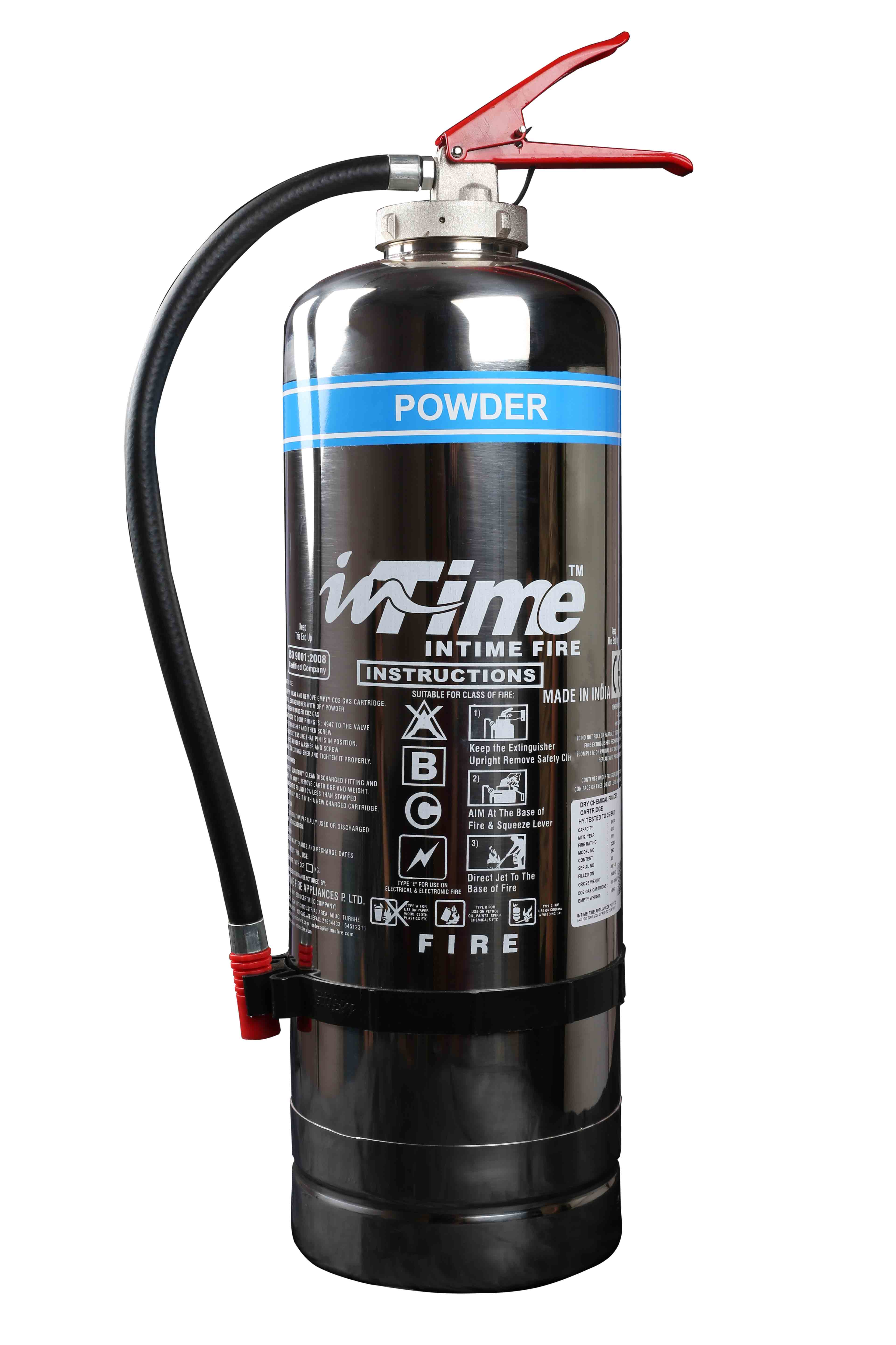 Cartridge Operated Stainless Steel Powder Type Fire Extinguishers